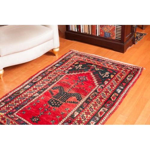 中央アジア ギョルデス アンティーク絨毯 C25042