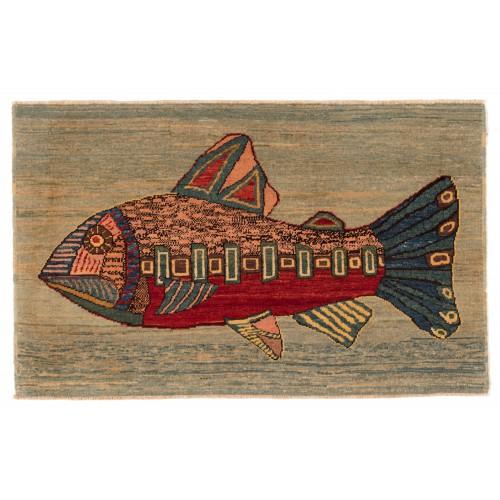 魚絨毯 fish rug C30030