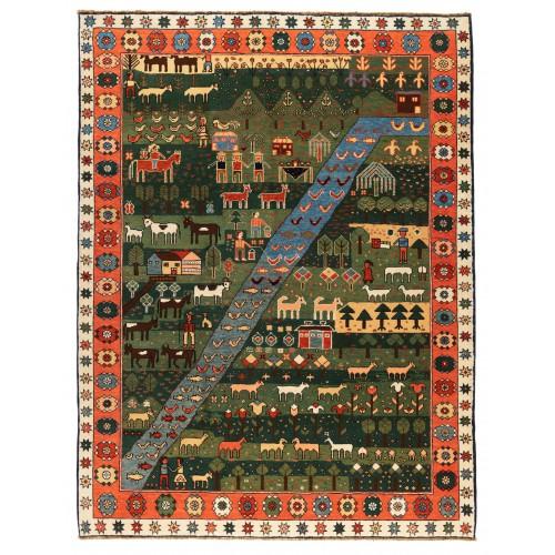 Azeri Rug 絨毯 C40078