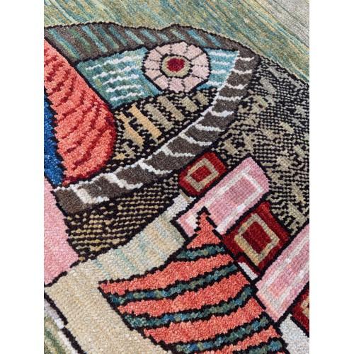 魚絨毯 fish rug C30038