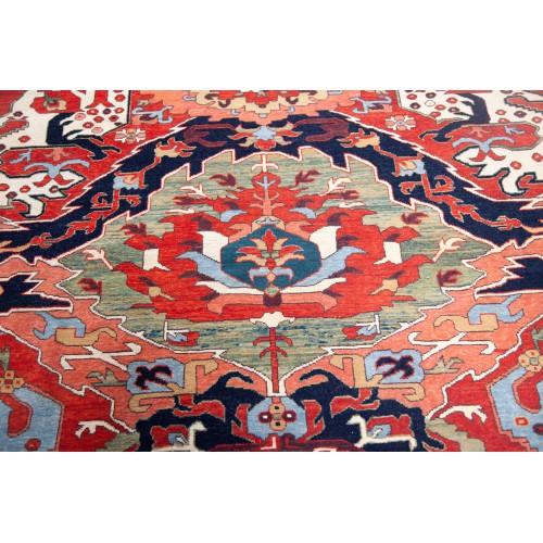 コーカサス ドラゴンデザイン絨毯 C40068