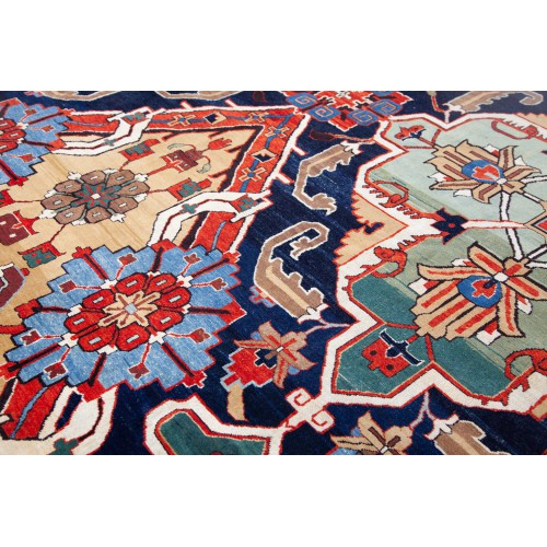 コーカサス ドラゴンデザイン絨毯 C40067